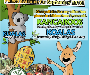 Nursery places for September 2016