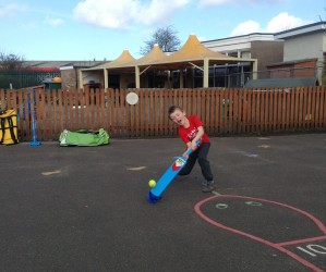 Year 4 are learning how to play cricket